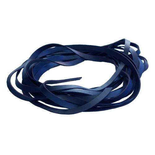 Fettleder Endlosriemen - Meterware blau