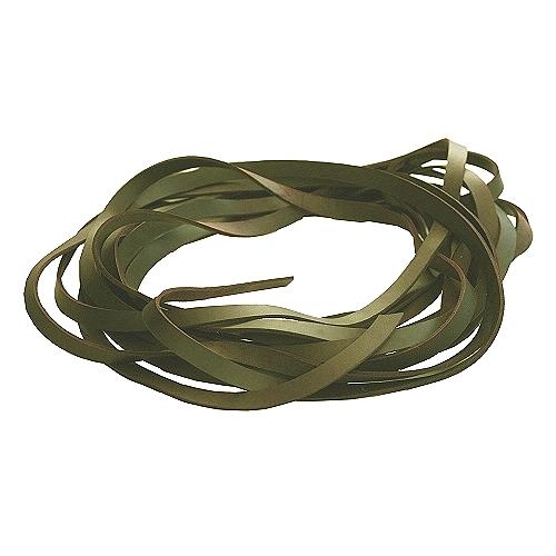 Fettleder Endlosriemen - Meterware oliv