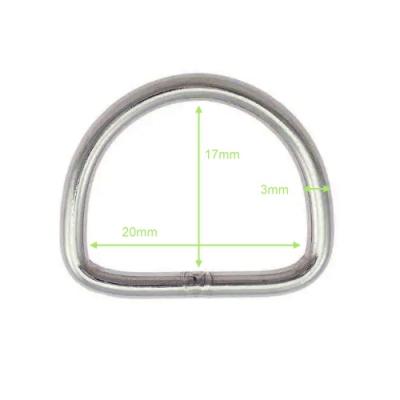 D-Ring aus Edelstahl - 20mm