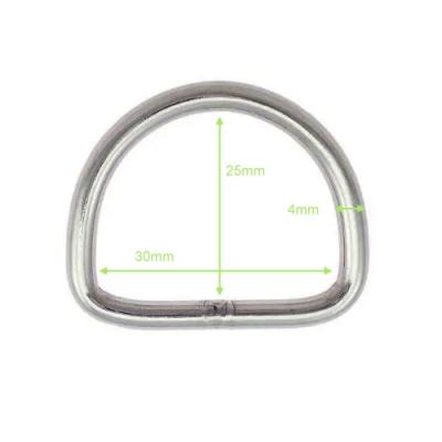D-Ring aus Edelstahl - 30mm