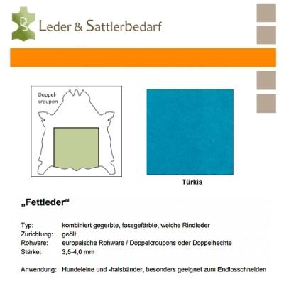 Fettleder Doppelcroupon - türkis