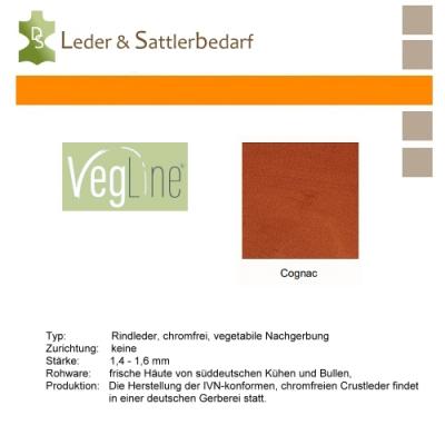 VegLine Nappa - halbe Haut - cognac