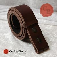 Wechselgürtel, Vollrind braun, 4cm