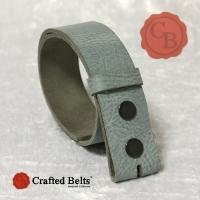 Wechselgürtel, Büffel BISON grau, 4cm