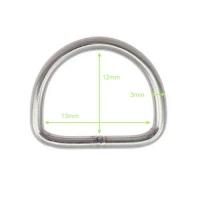 D-Ring aus Edelstahl - 13mm