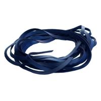 Fettleder Endlosriemen - 6mm - blau