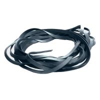 Fettleder Endlosriemen - 14mm - grau