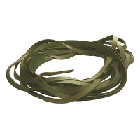 Fettleder Endlosriemen - 16mm - oliv