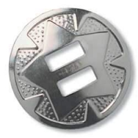 Slotted Round Conchos - 25mm - 10er Pack