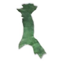 Blankleder Flanken grün - 1,5 - 1,7 mm