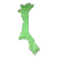 Blankleder Flanken hellgrün - 1,5 - 1,7 mm