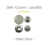 Druckknöpfe 12,5mm - S-Feder - silber - 10er Pack
