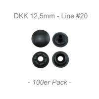 Druckknöpfe 12,5mm - Line #20 - anthrazit - 100er Pack