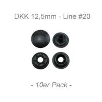 Druckknöpfe 12,5mm - Line #20 - anthazit - 10er Pack