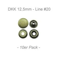 Druckknöpfe 12,5mm - Line #20 - antik messing - 10er Pack