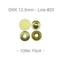 Druckknöpfe 12,5mm - Line #20 - messing - 100er Pack