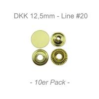 Druckknöpfe 12,5mm - Line #20 - messing - 10er Pack