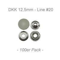 Druckknöpfe 12,5mm - Line #20 - silber - 100er Pack