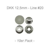 Druckknöpfe 12,5mm - Line #20 - silber - 10er Pack