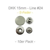 Druckknöpfe 15mm - S-Feder - silber - 10er Pack