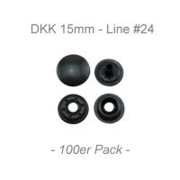 Druckknöpfe 15mm - Line #24 - anthrazit - 100er Pack