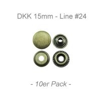Druckknöpfe 15mm - Line #24 - antik messing - 10er Pack