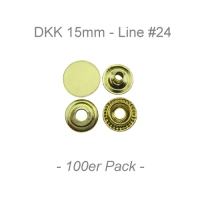 Druckknöpfe 15mm - Line #24 - messing - 100er Pack