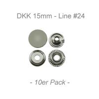 Druckknöpfe 15mm - Line #24 - silber - 10er Pack