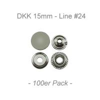 Druckknöpfe 15mm - Line #24 - silber - 100er Pack - ECO