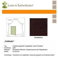 Fettleder Croupon - dunkelbraun
