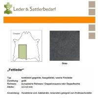 Fettleder Croupon - grau