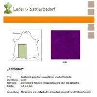Fettleder Croupon - lila