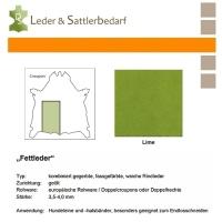 Fettleder Croupon - lime