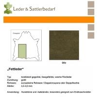 Fettleder Croupon - oliv