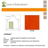 Fettleder Croupon - orange