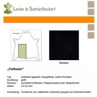 Fettleder Croupon - schwarz