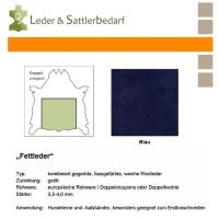 Fettleder Doppelcroupon - blau