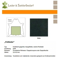 Fettleder Doppelcroupon - grün