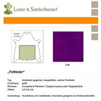 Fettleder Doppelcroupon - lila