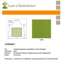 Fettleder Doppelcroupon - lime