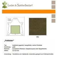 Fettleder Doppelcroupon - oliv
