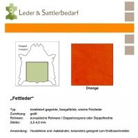 Fettleder Doppelcroupon - orange