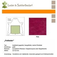 Fettleder Doppelcroupon - pink