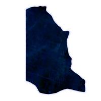 Fettnubuk CLASSIC - 1/2 Haut - blue