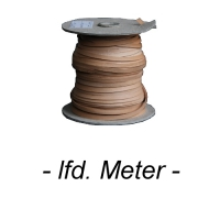 Flechtband Büffel 2mm - Meterware - natur