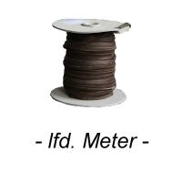 Flechtband Büffel 4mm - Meterware - braun