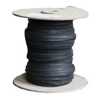 Flechtband Känguru 2mm - Rolle - schwarz