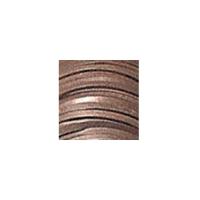 Flechtband Kalb ECO 2,5mm - Rolle - dunkelbraun