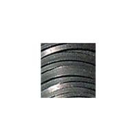 Flechtband Kalb ECO 3mm - Rolle - schwarz