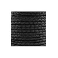 Flechtrundriemen Ø6mm - Rolle - schwarz